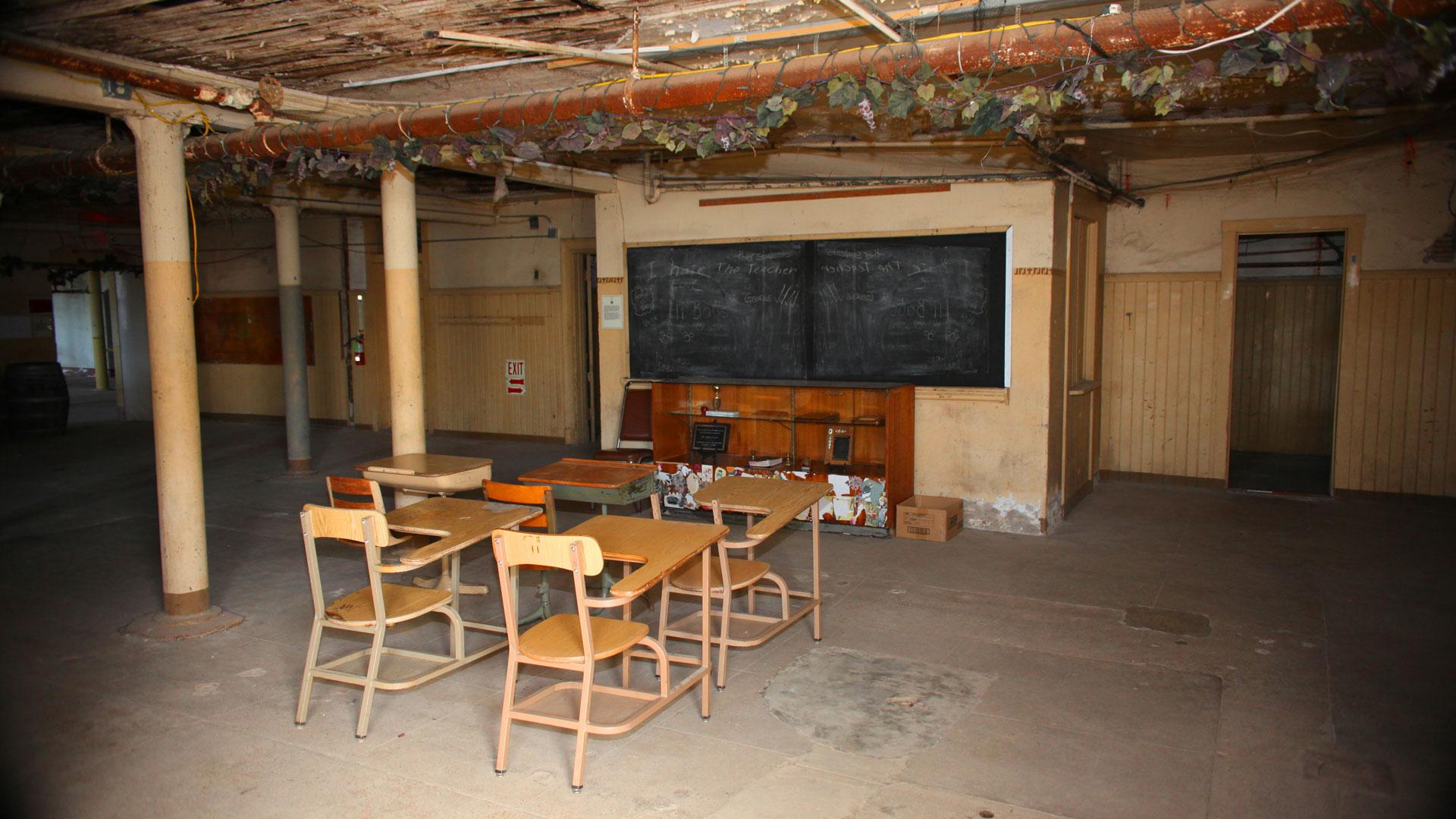 Preston Castle classroom.