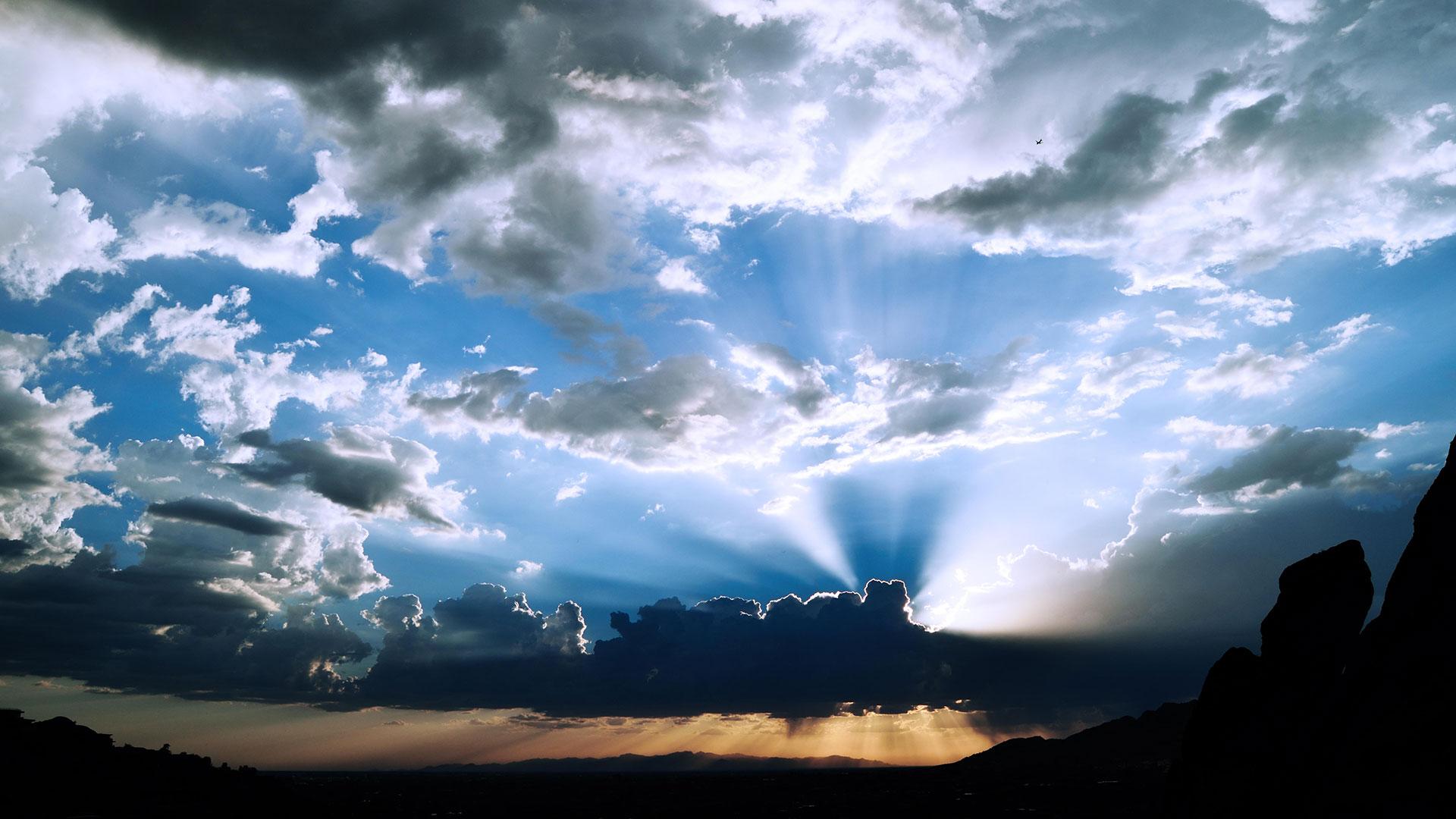 Storm clouds settle over Phoenix.