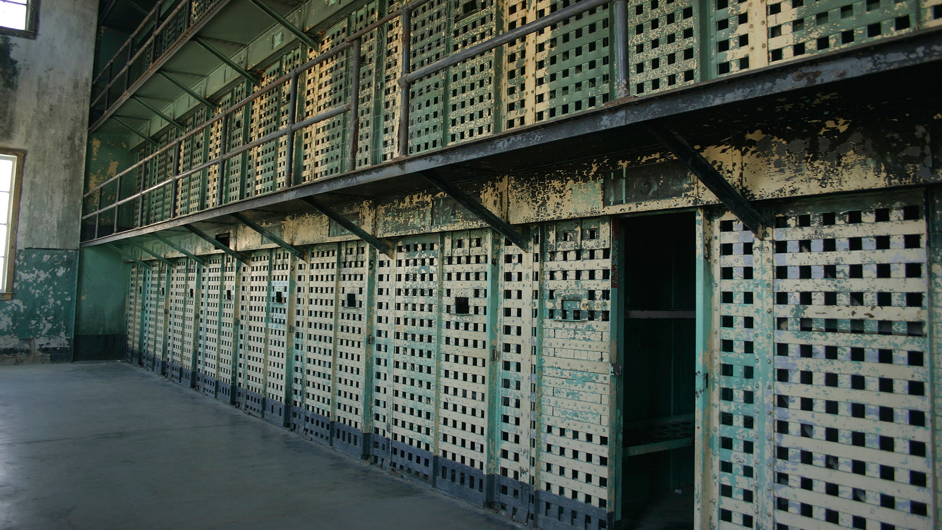Maximum security cells at the Old Idaho State Penitentiary.