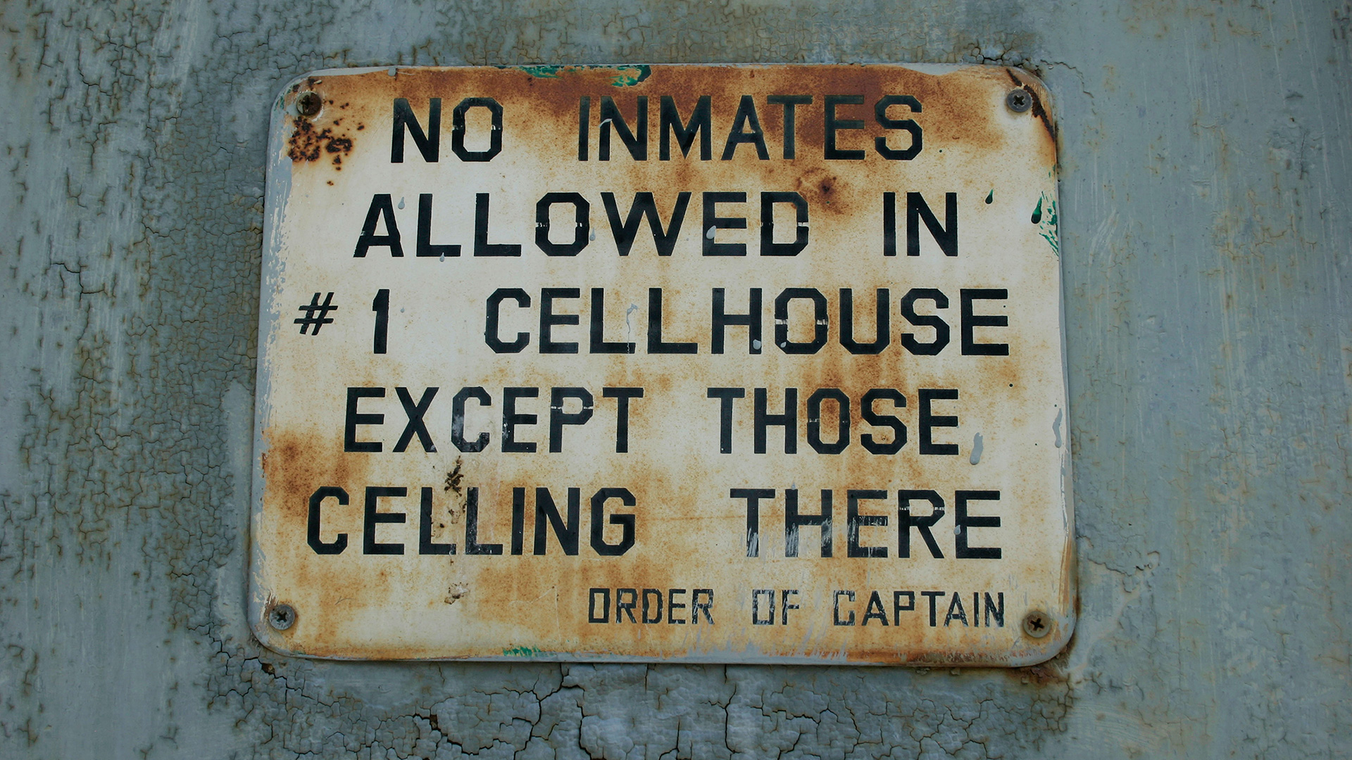 A sign from the Old Idaho State Penitentiary.