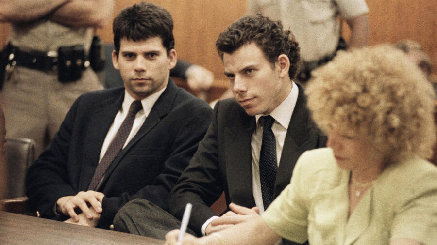 Lyle and Erik Menendez in court