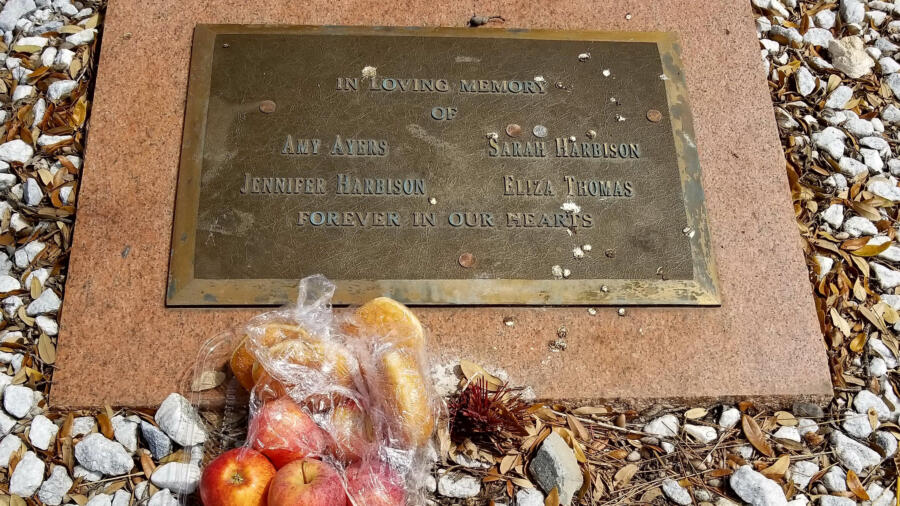 Yogurt shop murders memorial plaque