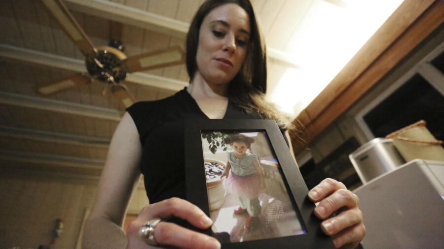 Casey Anthony with photo of Caylee Anthony