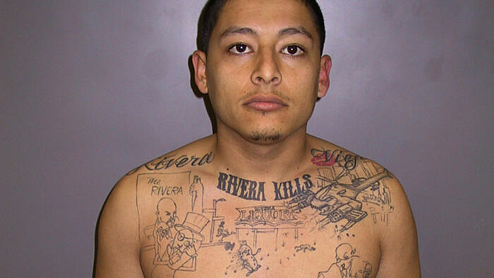 Anthony Garcia and his liquor store murder tattoo