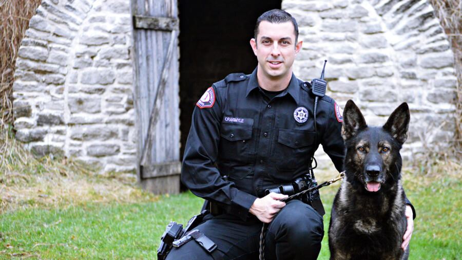 Cpl James Craigmyle and K-9 Lor