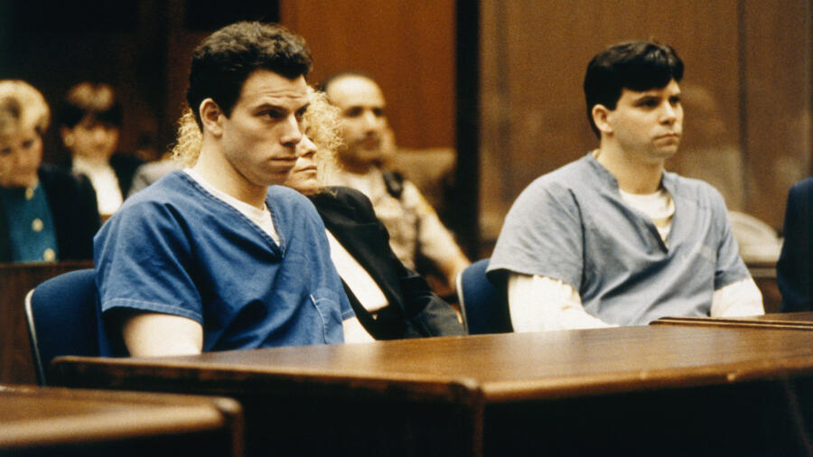 Brothers Lyle and Erik Menendez at their murder trial