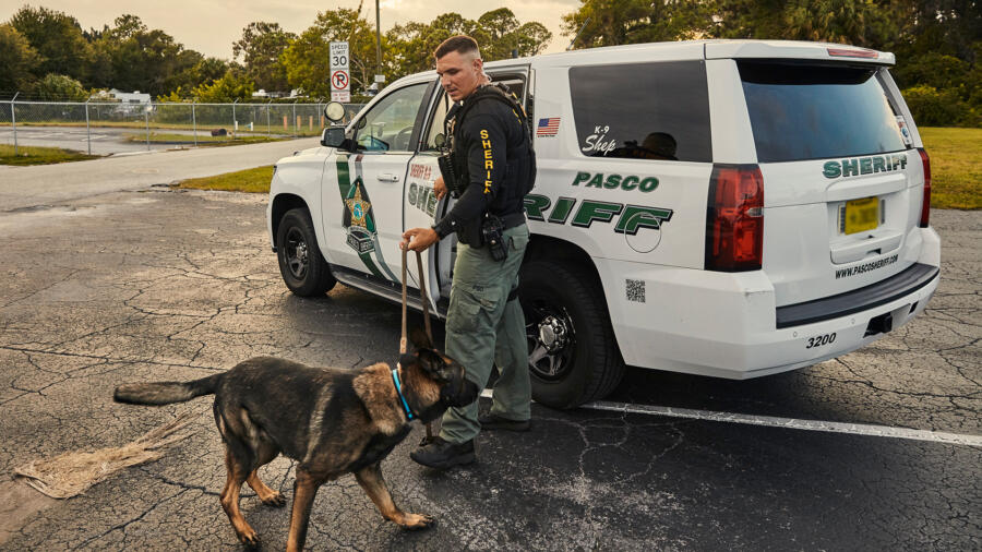 Dep. Nick Carmack and Shep of the Pasco County Sheriff's Office
