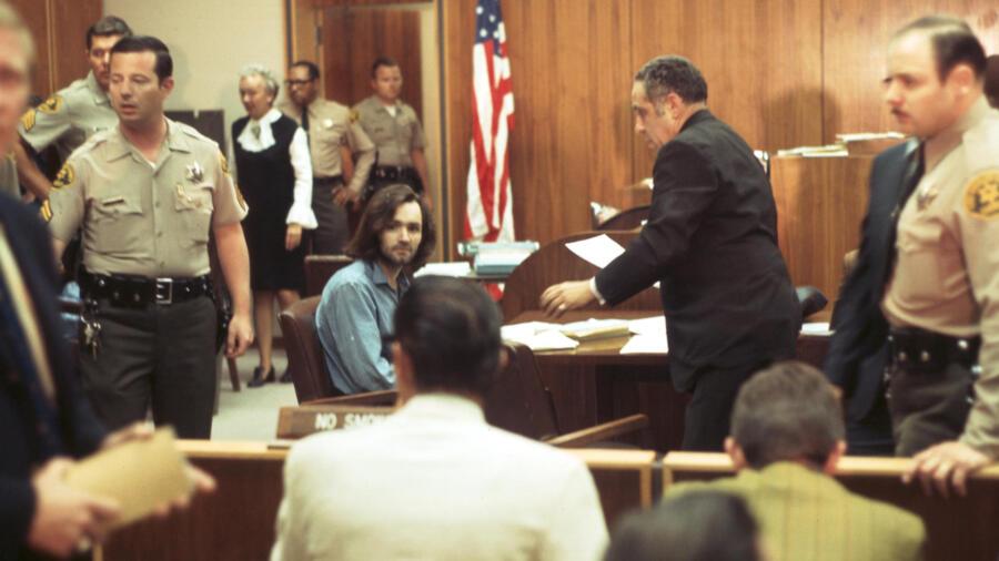 Charles Manson at Gary Hinman Murder Trial