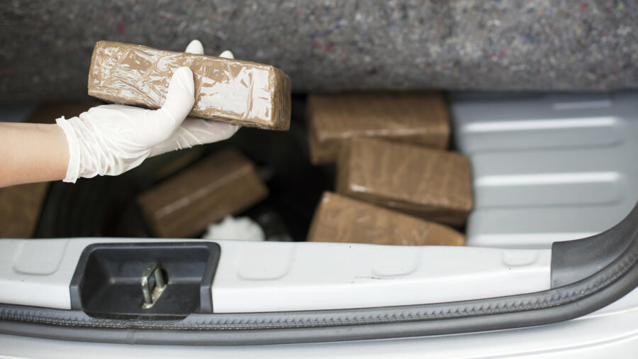 Transporting drugs in a car