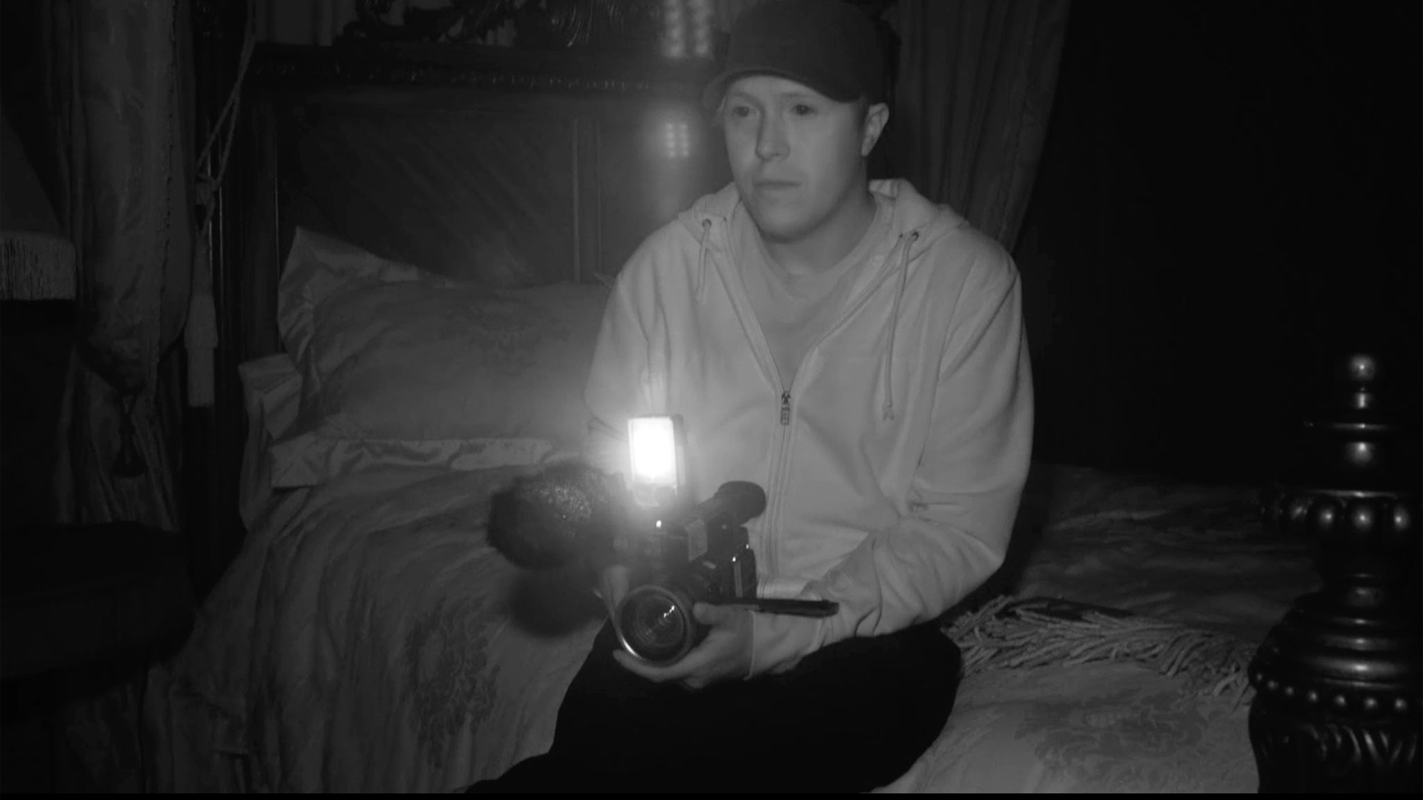 Brandon uses an infrared camera to spot GHOSTS!