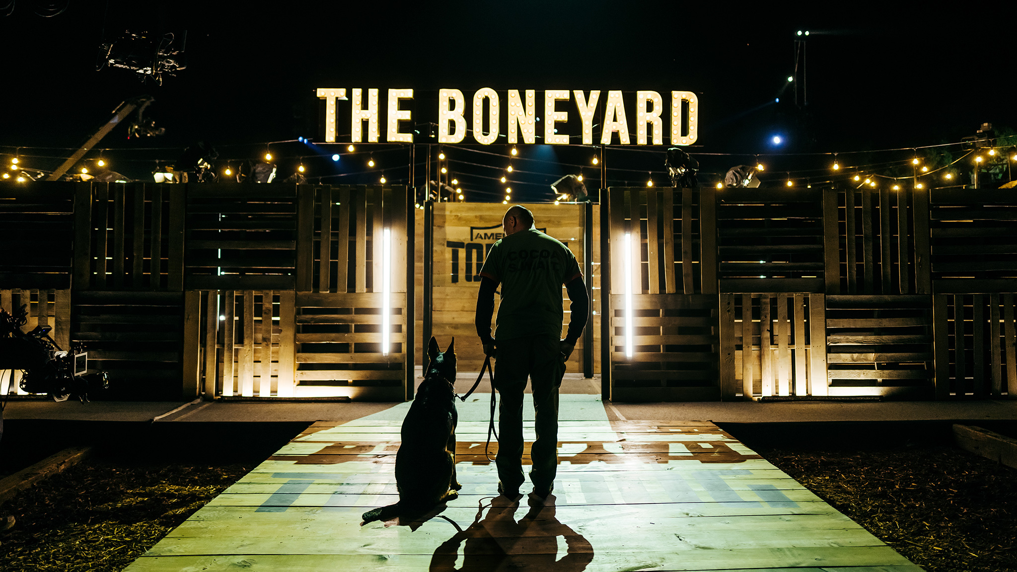 The entrance to the Boneyard.