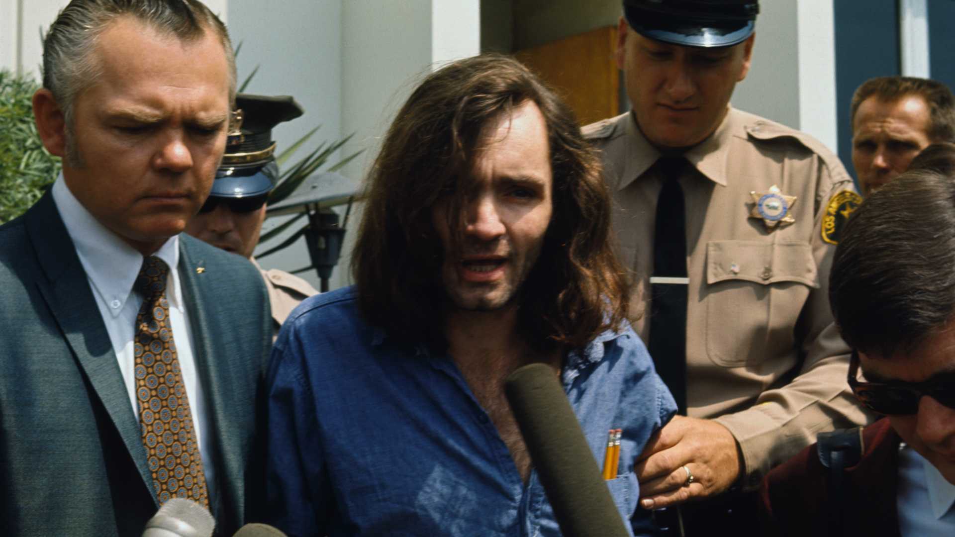 Charles Manson at court