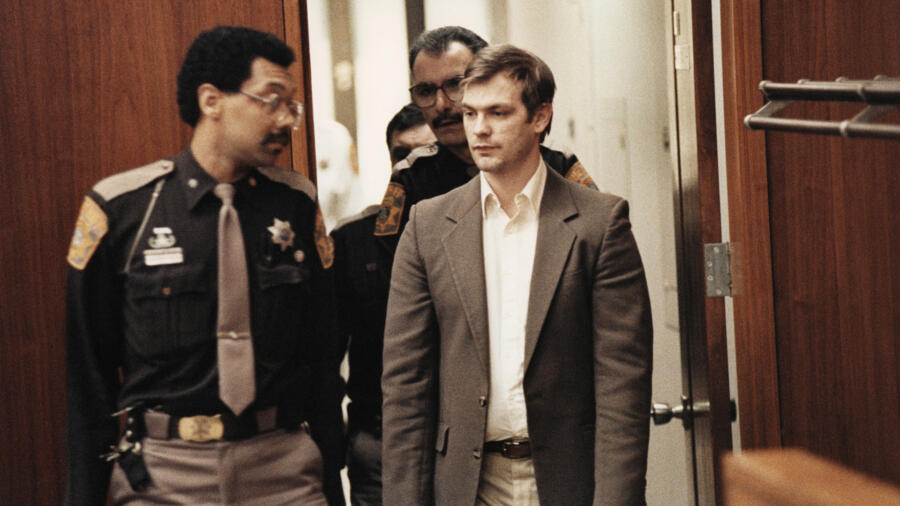 Jeffrey Dahmer in court during his murder trial