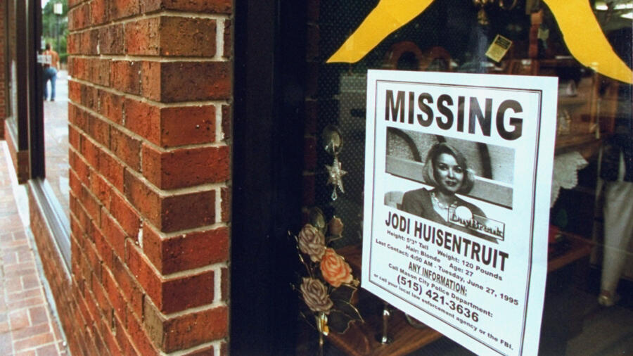 A missing persons sign of Jodi Huisentruit