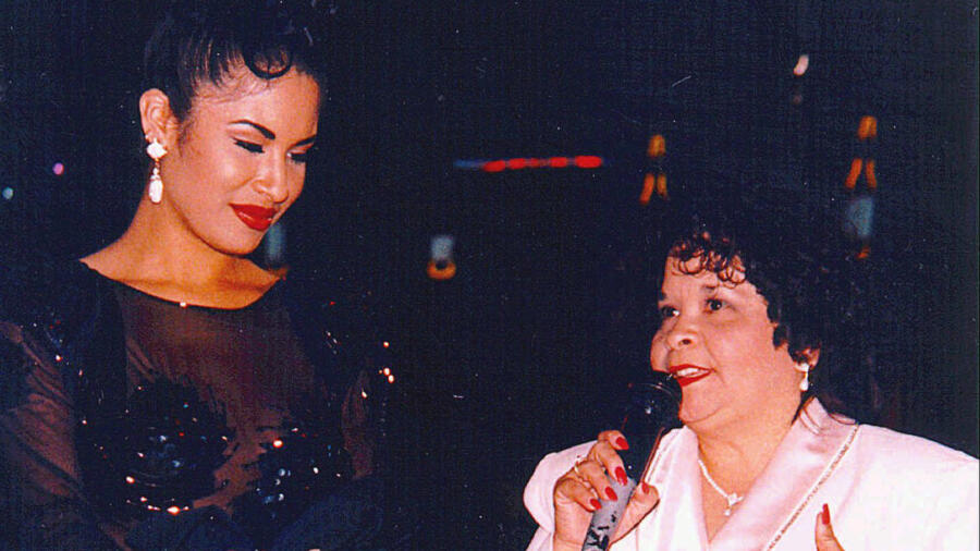 Singer Selena and Yolanda Saldivar