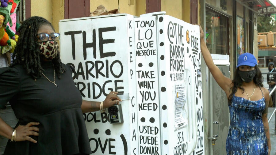 Darrielle Carter and Seantell Campbell, co-founders of The Barrio Fridge