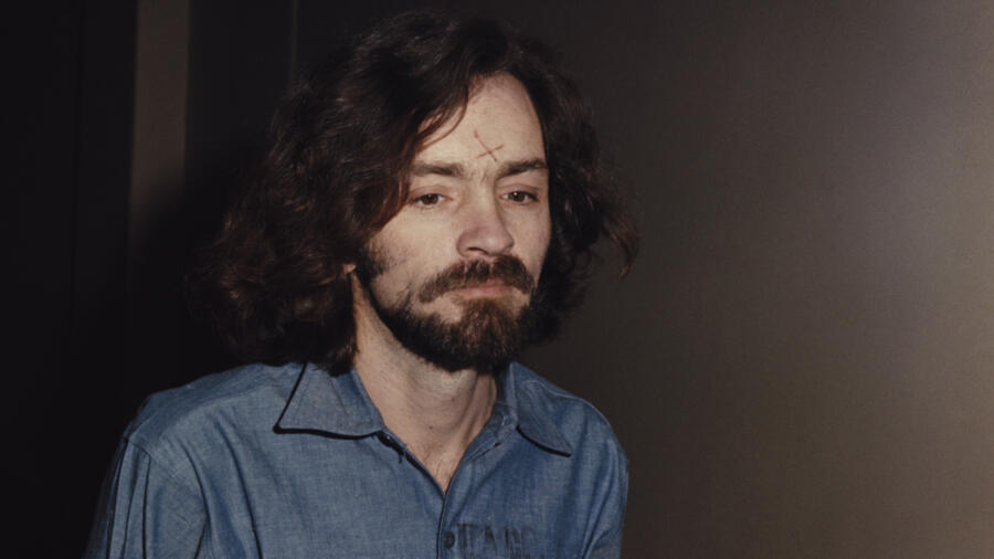 Charles Manson at his murder trial
