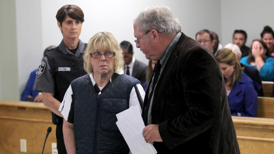 Joyce Mitchell in court.