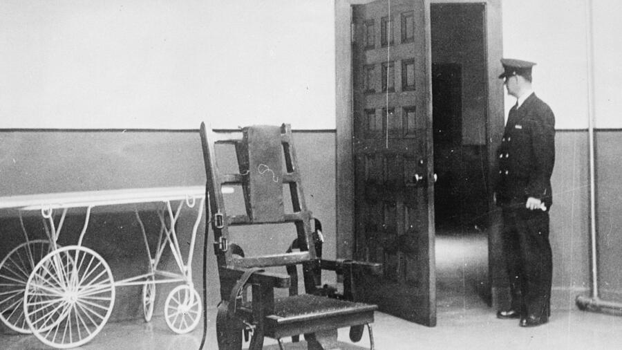 The electric chair at Sing Sing Prison in New York