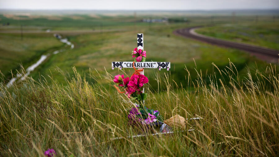 A memorial for a murdered Indigenous woman