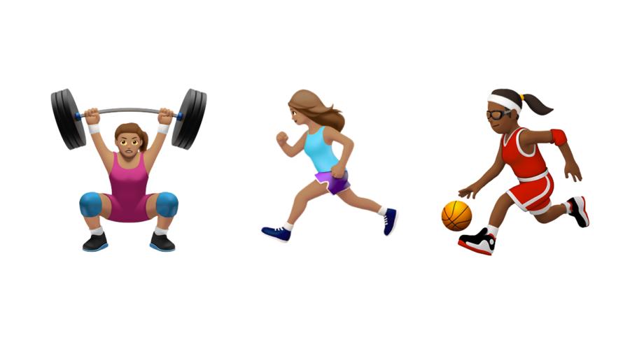 Female Fitness Emojis