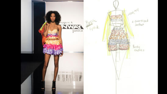 Hawwaa's Project Runway: Junior Season 2, Episode 2 Sketch