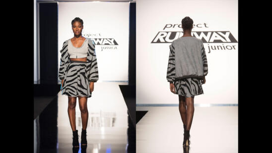 Chris' Project Runway Junior Season 2, Episode 4 Final Look