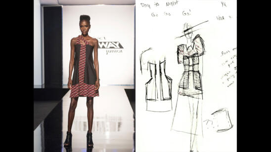Izzy's Project Runway Junior Season 2, Episode 4 Sketch