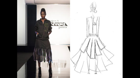 Izzy's Project Runway Junior Season 2, Episode 5 Sketch