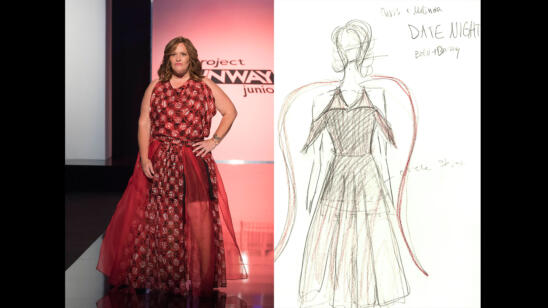 Izzy's Project Runway Junior Season 2, Episode 6 Sketch