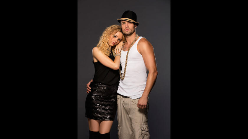 Natasha Bassett as Britney Spears and Clayton Chitty as Kevin Federline in Britney Ever After