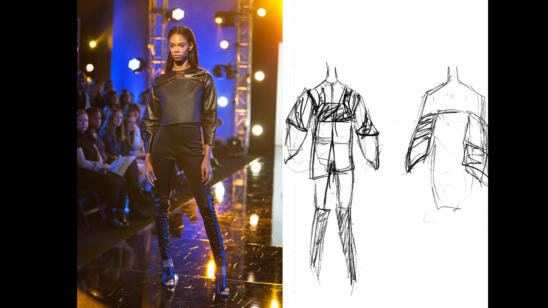 Chelsea's Project Runway Junior Season 2, Episode 10 Sketch