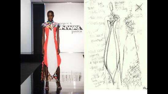 Izzy's Project Runway Junior Season 2, Episode 7 Sketch