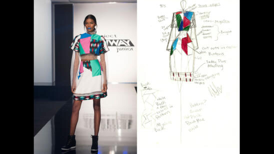 Hawwaa's Project Runway Junior Season 2, Episode 8 Sketch