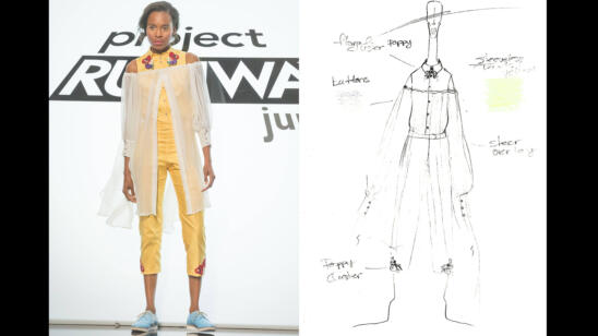 Tieler's Project Runway Junior Season 2, Episode 9 Sketch