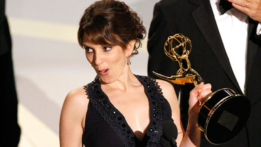 Tina Fey at the 59th Emmy Awards