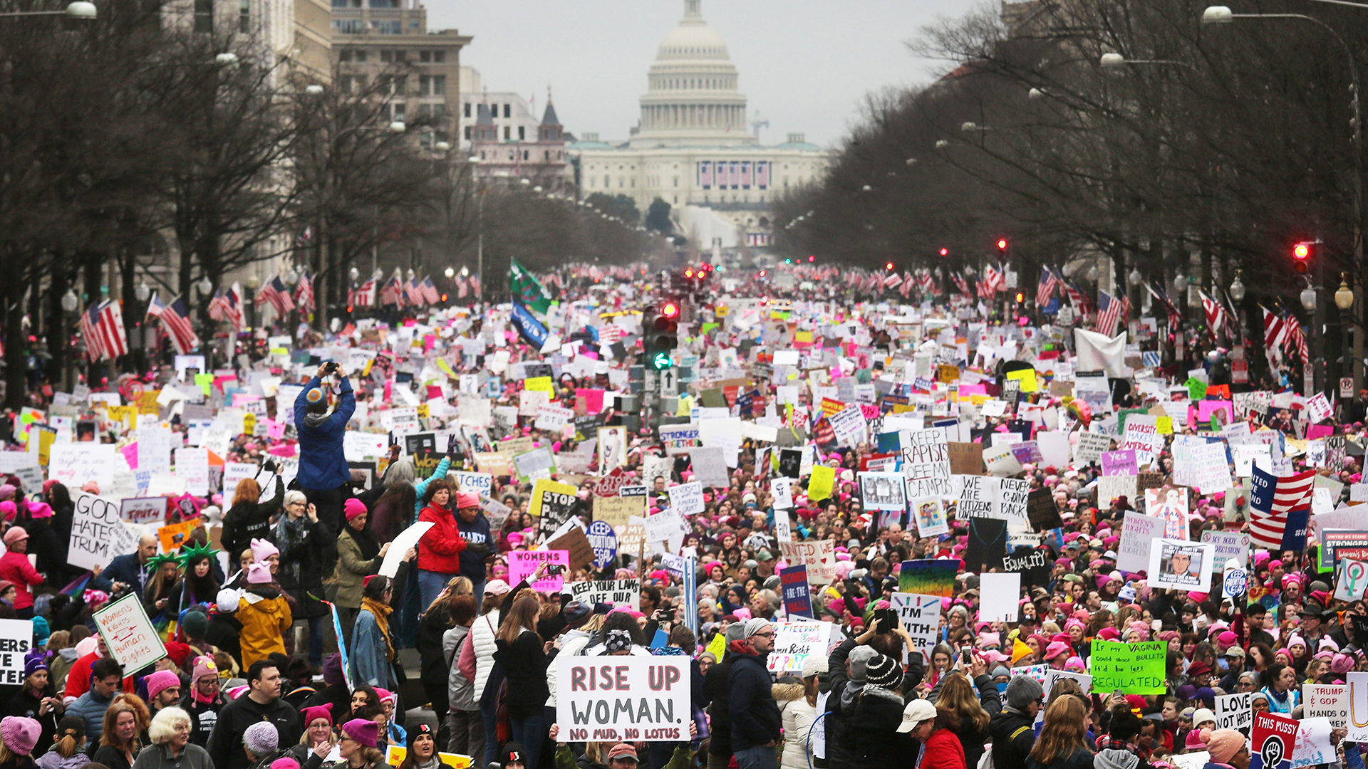 The Women's March Became the Largest Single-Day Protest in United States History One Year Ago