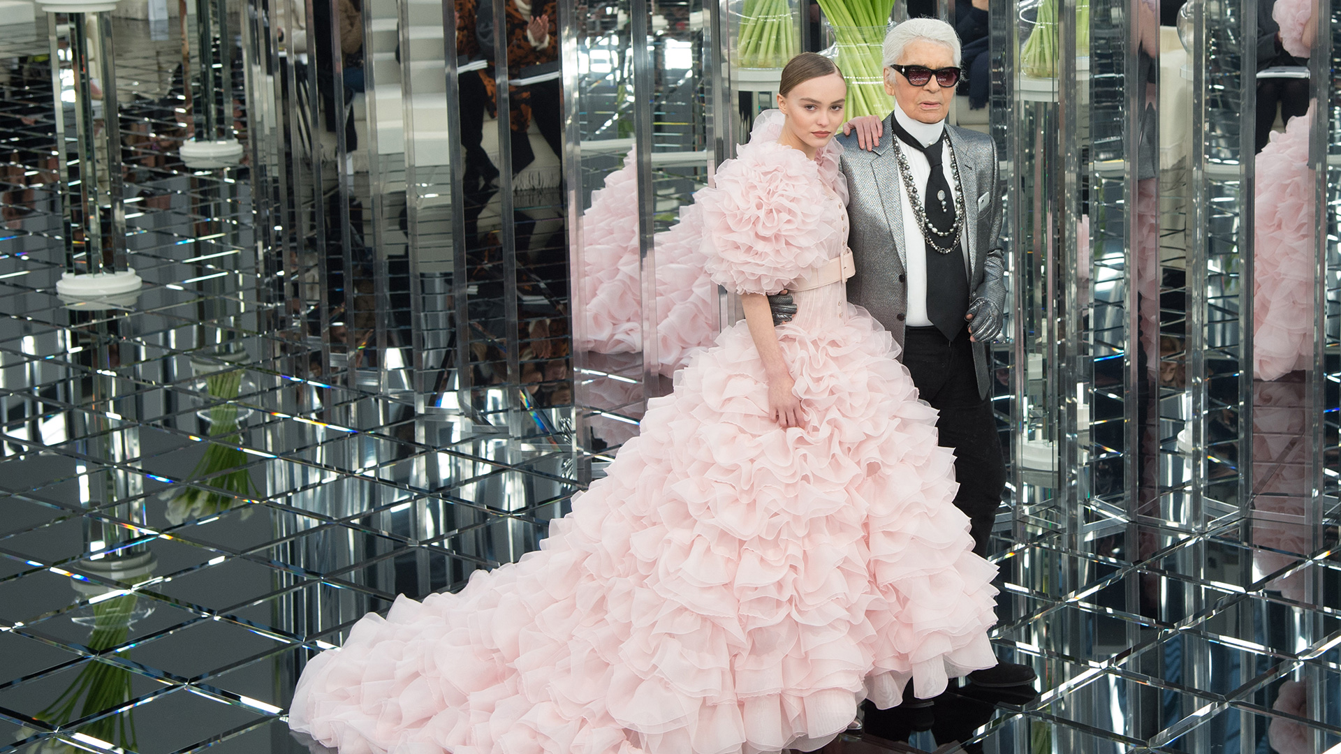 Lily-Rose Depp and Karl Lagerfeld