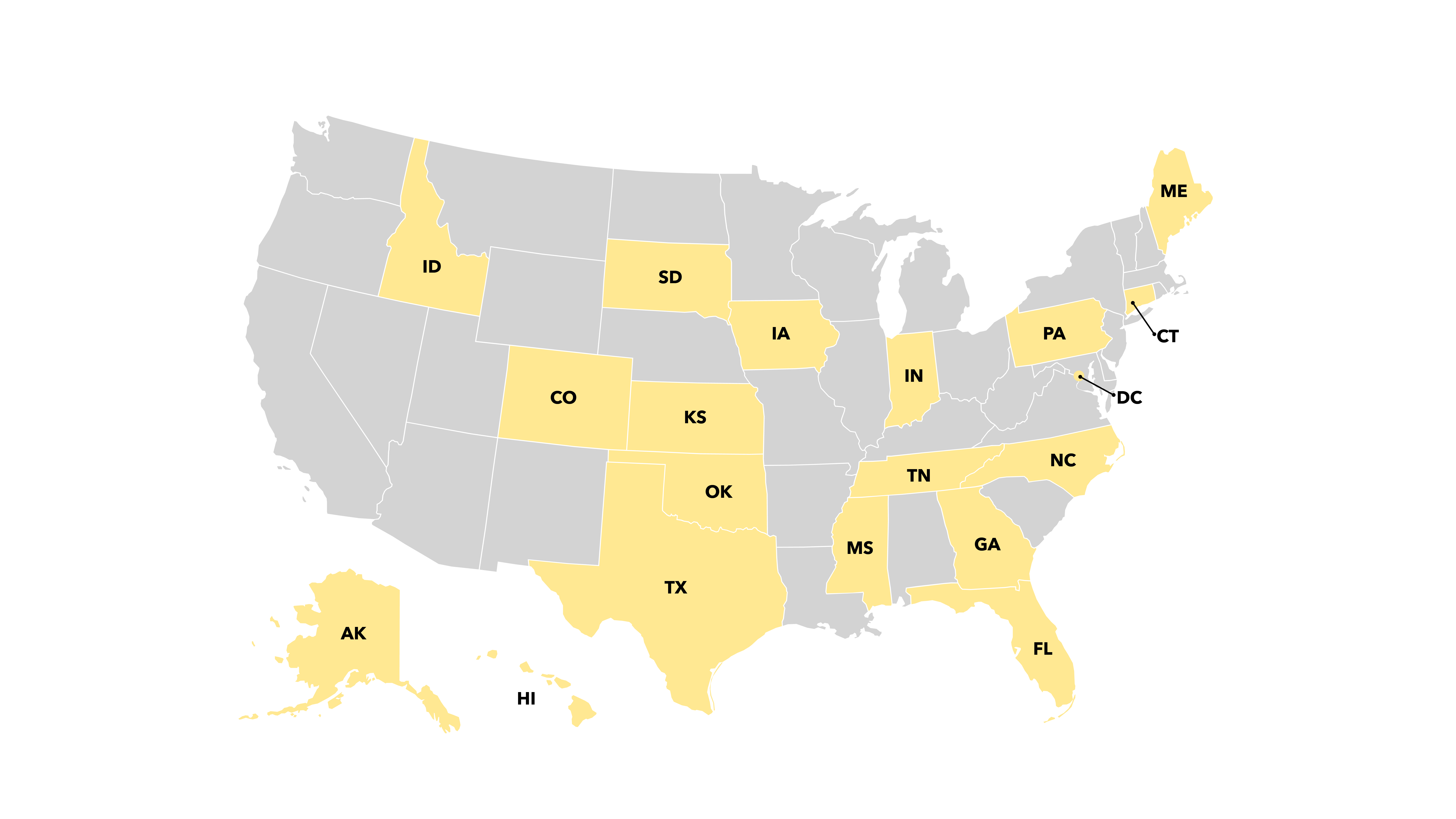 map of states that require clear and convincing evidence