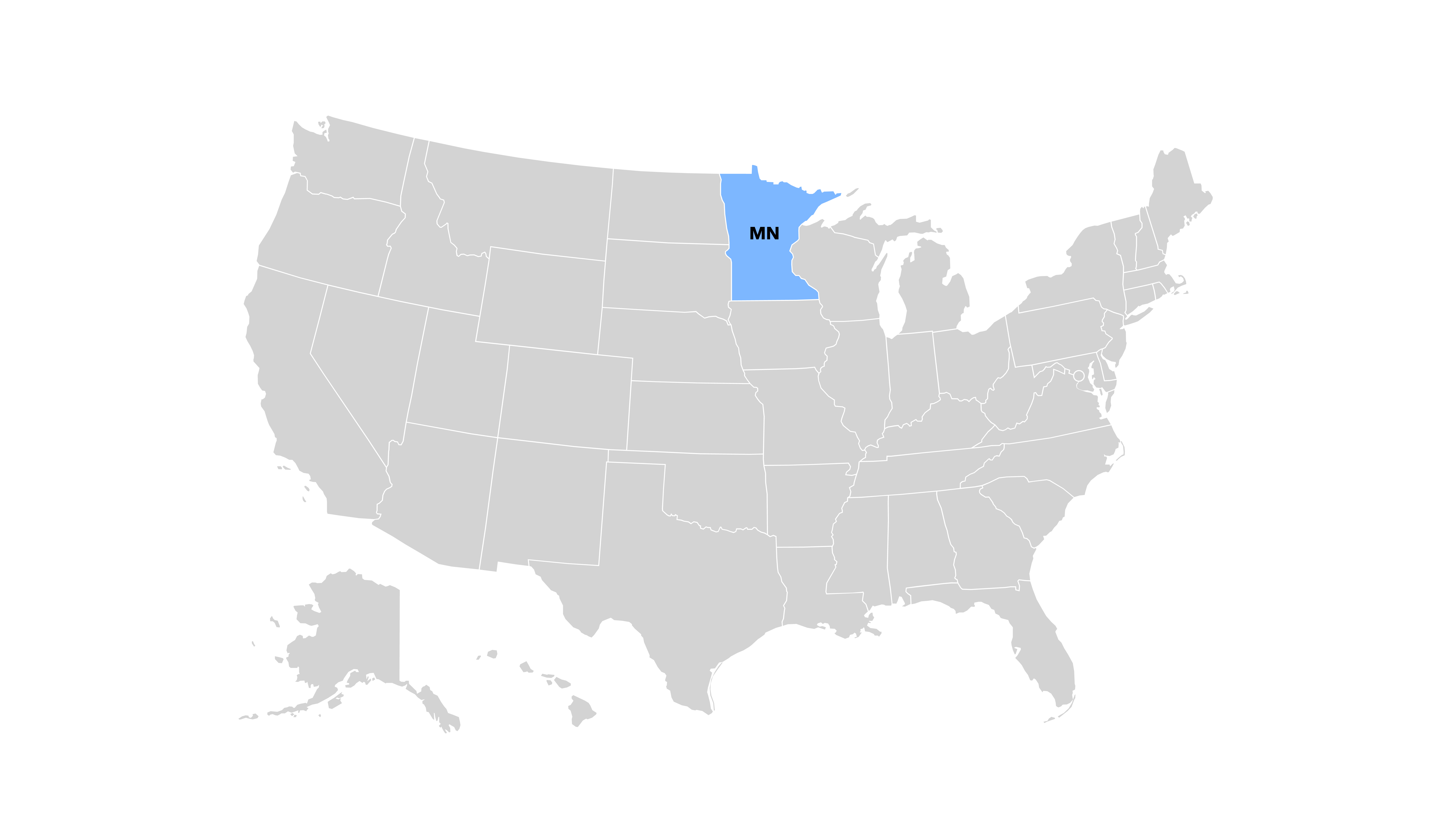 map of state that requires no legal provision