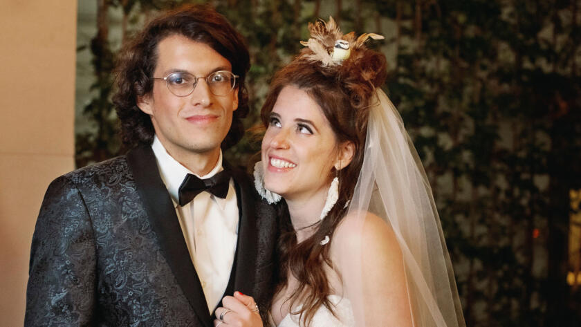 Bennett and Amelia at their wedding from Season 11 of Married at First Sight.