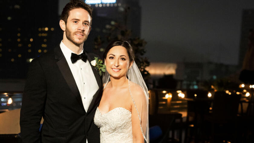 Olivia and Brett at their wedding from Season 11 of Married at First Sight.