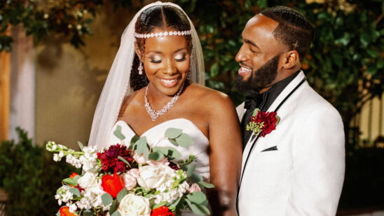 Woody and Amani at their wedding from Season 11 of Married at First Sight.