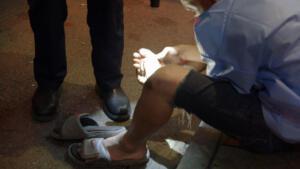 Do Not Walk Barefoot on Bourbon Street