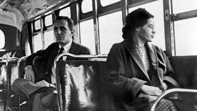 Barack Obama Sitting In Rosa Parks Bus Old Photo